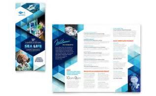 microsoft publisher brochure templates aquarium brochure template word publisher