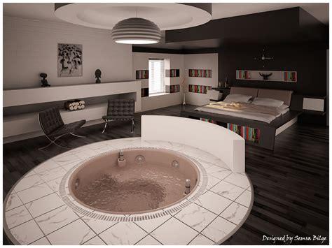 interior exterior plan creative bedroom concept   bathtub