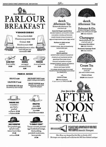 Menu Sketch London Restaurant Breakfast Away Take