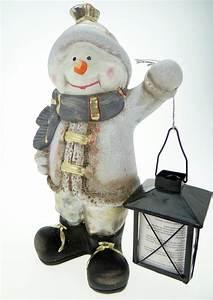 Laterne Groß Für Draußen : schneemann mit laterne weiss figur a weihnachten f r drinnen und draussen ebay ~ Yasmunasinghe.com Haus und Dekorationen