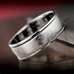 meteorite mens wedding ring mens meteorite ring timepieces international