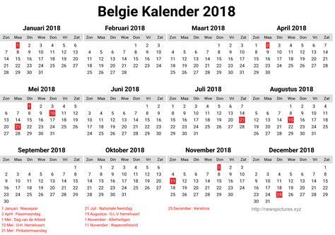 Belgie Kalender 2019