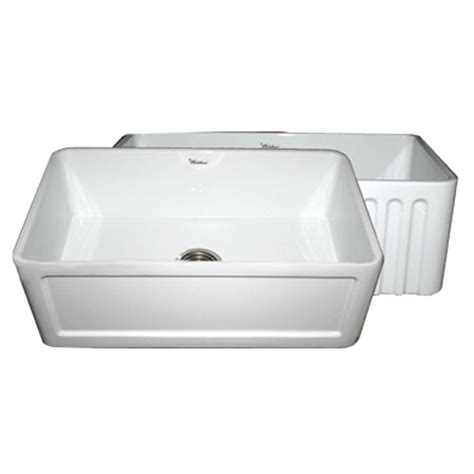 All In One Kitchen Sink by Whitehaus Collection Reversible Farmhaus Series All In One