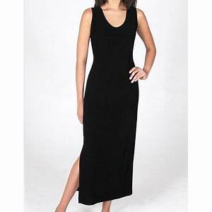Size Medium Black Crepe Tank Dress with Wide Straps