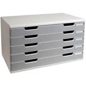 module de rangement 5 tiroirs a3 gris granit exacompta