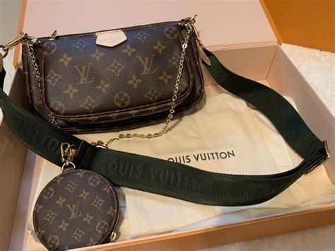 louis vuitton multi pochette accessories khaki womens fashion bags wallets sling bags