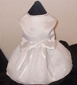 dog wedding dress white organza With dog wedding dress