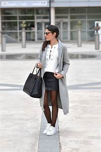 lace up sweatshirt leather skirt june sixty five With blog de mode tendance
