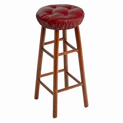 Stool Bar Covers Cushion Padded Leather Tufted