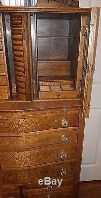 antique oak ransom randolph company dental cabinet