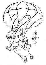 Parachute Coloring Pages sketch template