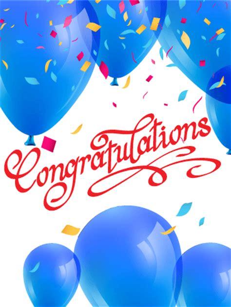blue balloons congratulations card birthday greeting