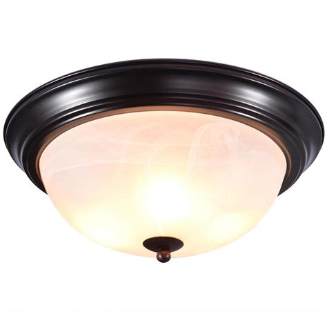 oil rubbed bronze ceiling fan with light flush mount 11 quot 13 quot 15 quot oil rubbed bronze flush mount ceiling light