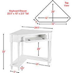 coaster small corner wood computer desk with 1 drawer