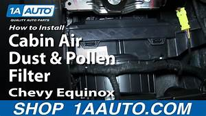 How To Install Replace Change Cabin Air Dust And Pollen