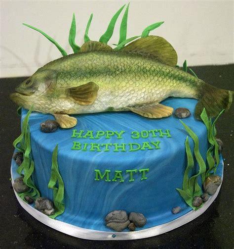 bass fish cake ideas  pinterest fishing cakes