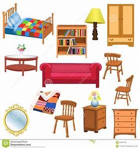 Furniture set stock vector. Illustration of table, blanket ...