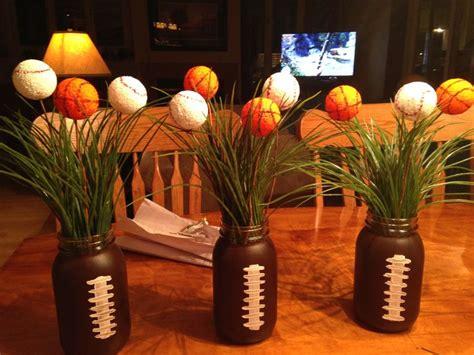 floral arrangements football  jars  pinterest
