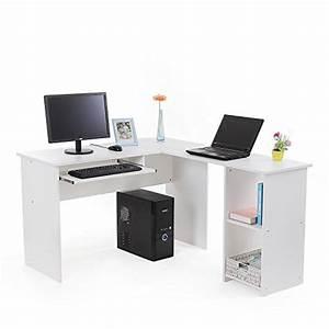 Design Pc Tisch : songmics computertisch b rotisch schreibtisch wei pc tisch computerschreibtisch gro e desktop ~ Frokenaadalensverden.com Haus und Dekorationen