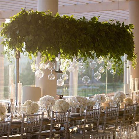 hanging greenery installations   wedding wedding