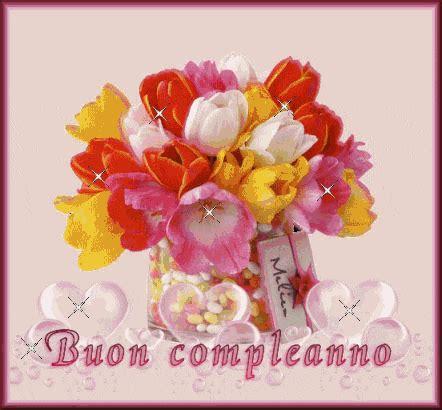Fiori per augurare buon compleanno. buon compleanno gif fiori   GIF Images Download