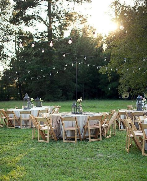 35 Rustic Backyard Wedding Decoration Ideas   Deer Pearl