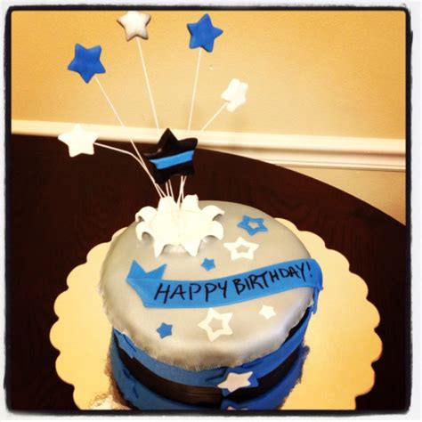 thin blue  birthday cake   police officer cake