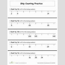 Skip Counting Practice  Worksheet Educationcom