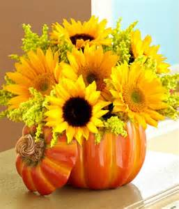 sunflower wedding 24 pumpkin flower vases the bright ideas