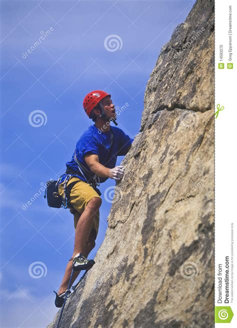 Climber Going For Stock Photo Image