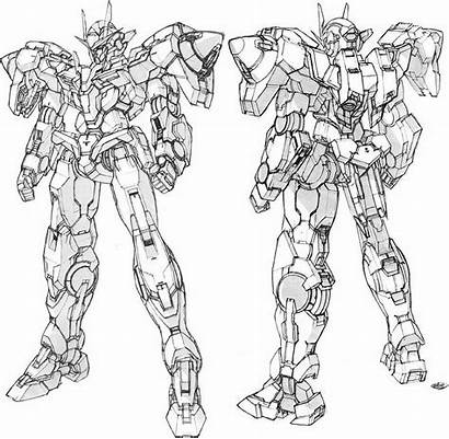 Gundam Lineart Concept Oo Exia Pg Suit