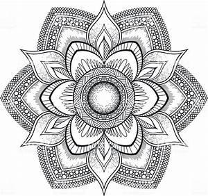 Orientalische Muster Zum Ausdrucken : schwarze blume mandala orientalische muster ~ A.2002-acura-tl-radio.info Haus und Dekorationen