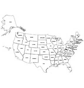 United States Map Outline Vector