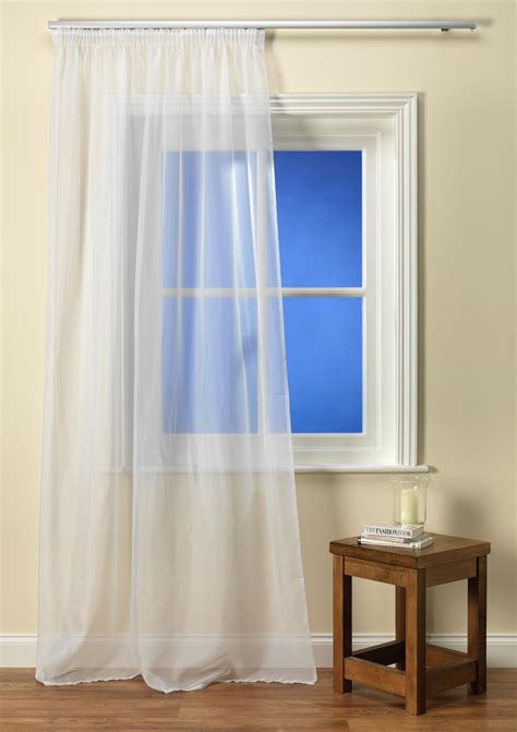 White Tape Top Voile Panel from Net Curtains Direct