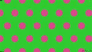 Wallpaper polka green hexagon pink dots #32cd32 #da498a 0 ...