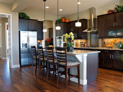kitchen island ideas with bar kitchen island breakfast bar pictures ideas from hgtv kitchen ideas design with cabinets