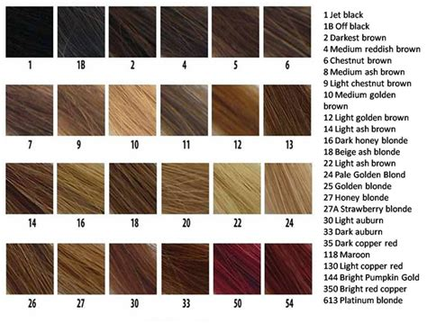 Hair Color Chart by Revlon Hair Color Chart Hairstyles Ideas
