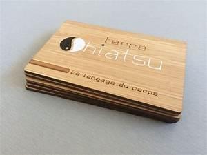 Carte De Visite Original : shiatsu carte de visite en bois 13com ~ Melissatoandfro.com Idées de Décoration