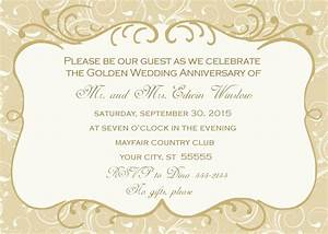 50th wedding anniversary invitation With 50th wedding anniversary invitations