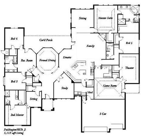 bedroom house floor plan  home plans design