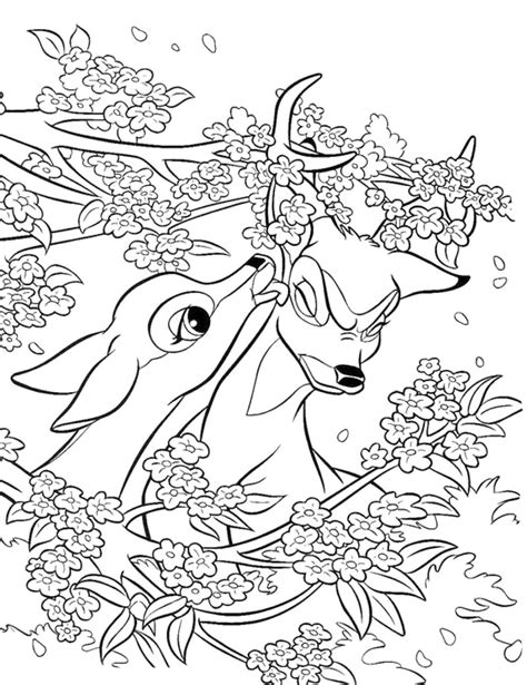 bambi coloring pages coloring kids