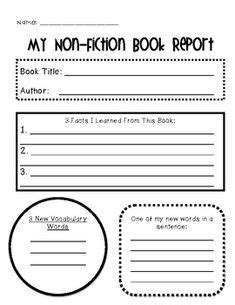 free book review template for kids - Google Search   book