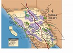 Sonoma County Map - 101 Things To Do Wine Country