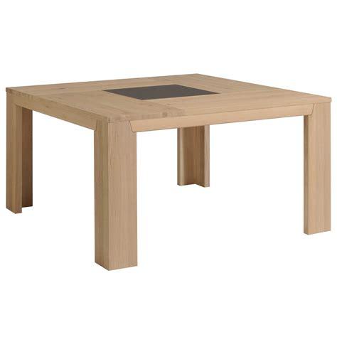 table 224 manger carr 233 bois et verre l140xp140xh77 5cm bruts port offert