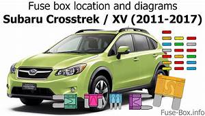 Fuse Box Location And Diagrams  Subaru Crosstrek    Xv