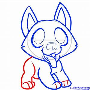 Step 6 How To Draw A German Shepherd Puppy German