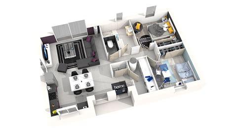 plan de maison gratuit 3 chambres plan de maison moderne 3 chambres 3d maison moderne