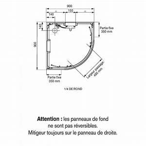 Paroi De Douche 1 4 De Cercle 90x90 : cabine de douche 1 4 de cercle 90x90 cm portes ~ Edinachiropracticcenter.com Idées de Décoration