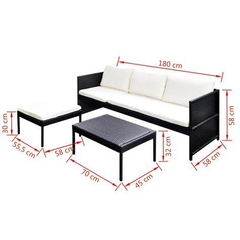 sofa de vime 3 lugares conjunto de sof 225 de 3 lugares vime preto www vidaxl pt
