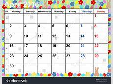 April 2018 Calendar Easter FREE DOWNLOAD Aashe